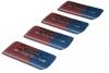 4er Set FABER-CASTELL Radiergummi  rot/blau