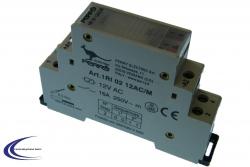 Stromstoßschalter für Hutschiene 12V 1RI0212AC/M
